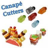 Set of 5 Canapé Cutters Impress your guests with dainty hors d'oeuvres made with our incredible canapé maker.  - Ideal for sandwiches, simply attach your chosen shape to the plunger, press into desired filling and stack the elements.