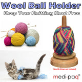 REVOLVING WOOL BALL HOLDER