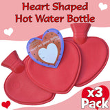 Multi-Pack Luxury Heart Shaped Hot Water Bottles