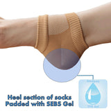 Recovery Gel Heel Socks - Protects and Eases Sore and Damaged Heels