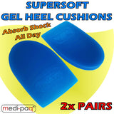 Pedifix Gel Heel Cushions - 2 PAIR PACK  Cushion & Massage your Heels with Every Step.