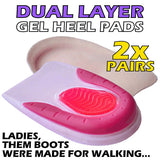 GIRLS / LADIES Soft Gel Heel Supports (TWO PAIRS)