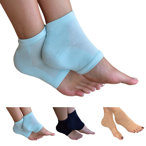 Recovery Gel Heel Socks  Get On The Road To Recovery! - No More Friction!  Walk comfortably again with our Recovery Gel Heel Socks. These special active gel pads, enclosed in a pull-on elasticated fabric brace, protect your damaged heels from discomfort caused by long or short term injuries and ailments.