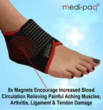 Neoprene Magnetic Ankle Support - Adjustable A scientifically designed product that brings quick support and releases painful pressure from your sore ankle.