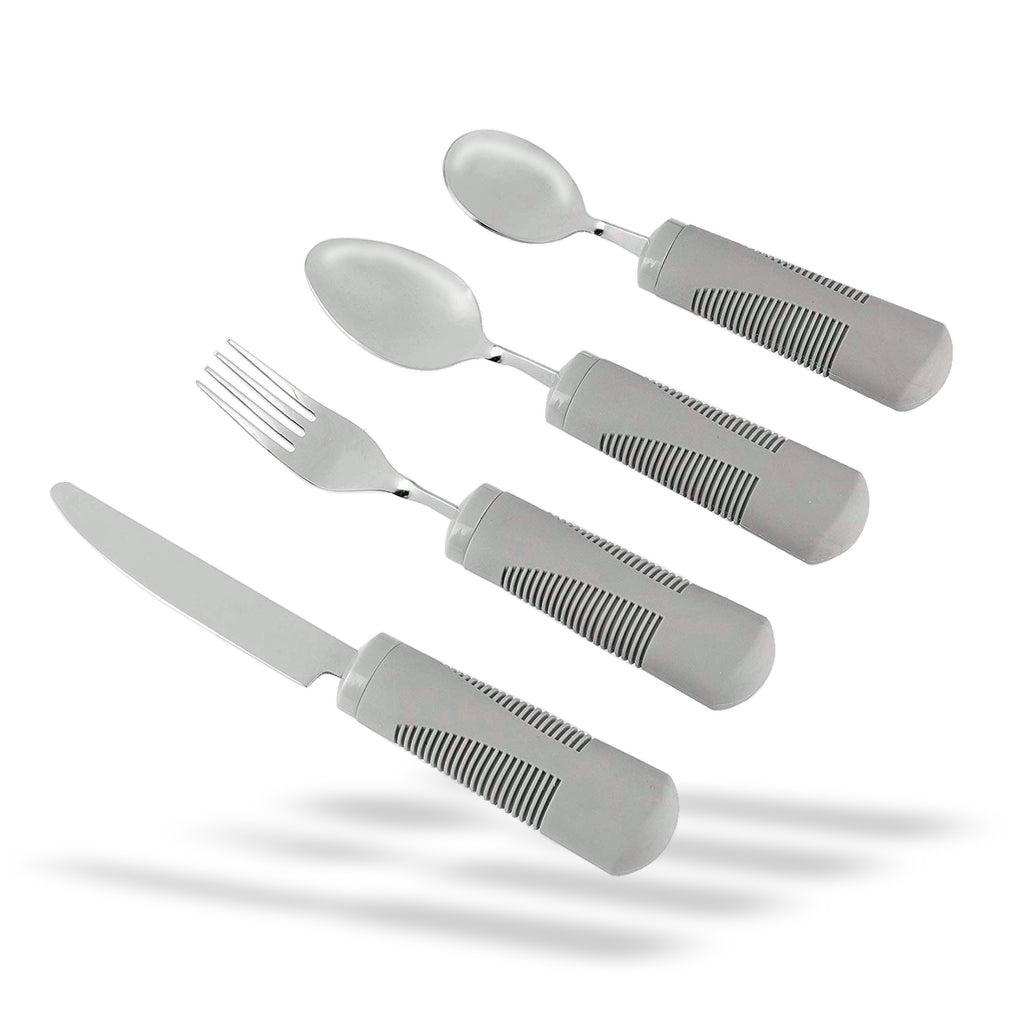 Medipaq Weighted Bendable Cutlery - Great for the Elderly (BENDABLE GREY (1x Set))