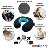 Luxury Memory Foam PLUS Gel Travel Neck Cushion