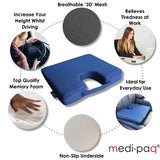 3D' Mesh Orthopedic Memory Foam Lumbar Support Cushion