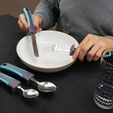 Easy Pick-Up Comfort Grip Cutlery Set - Great for Elderly Or Those With Weak Grasp
