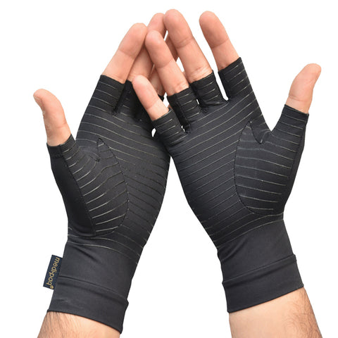 Anti ARTHRITIS Fingerless COPPER Compression Therapy Gloves