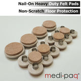 Felt Floor Scratch PROTECTION Pads - Dining Suite Pack - 4x Chairs + 1x Table.