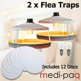 2x ULTIMATE FLEA TRAPS - Includes 12 Sticky Discs