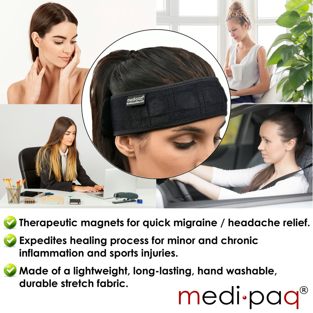 Magnetic Headband - Quick Relief for Migraines and Headaches