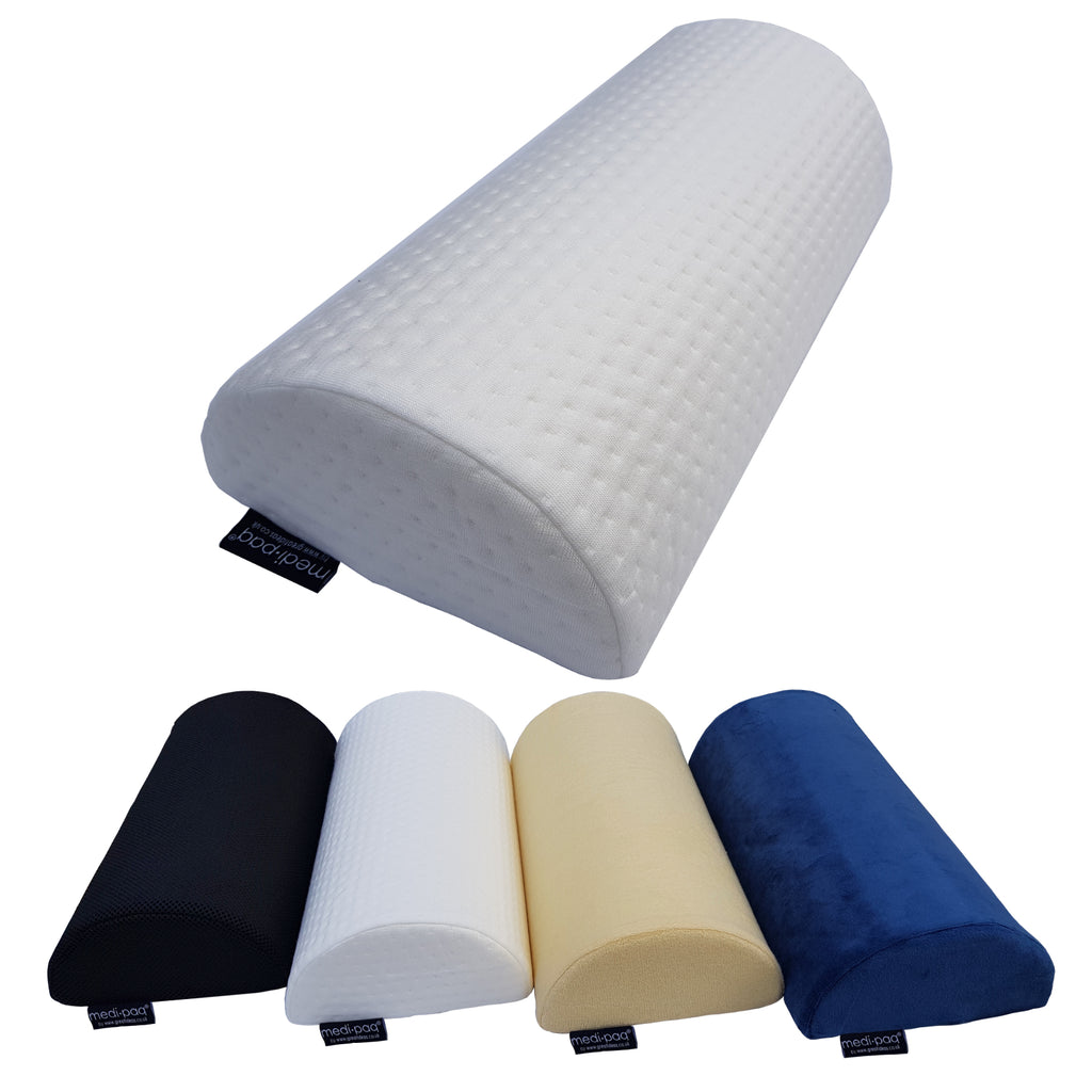 Medipaq® Half Moon' Memory Foam Cushion Pillow - Soft Yet Firm - Use For Neck, Lower Back, Knees, Legs, Feet Virtually Any Position!