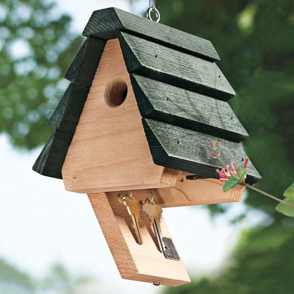 Hide-a-Key Birdhouse - Songbird Essentials Hide-A-Key House -