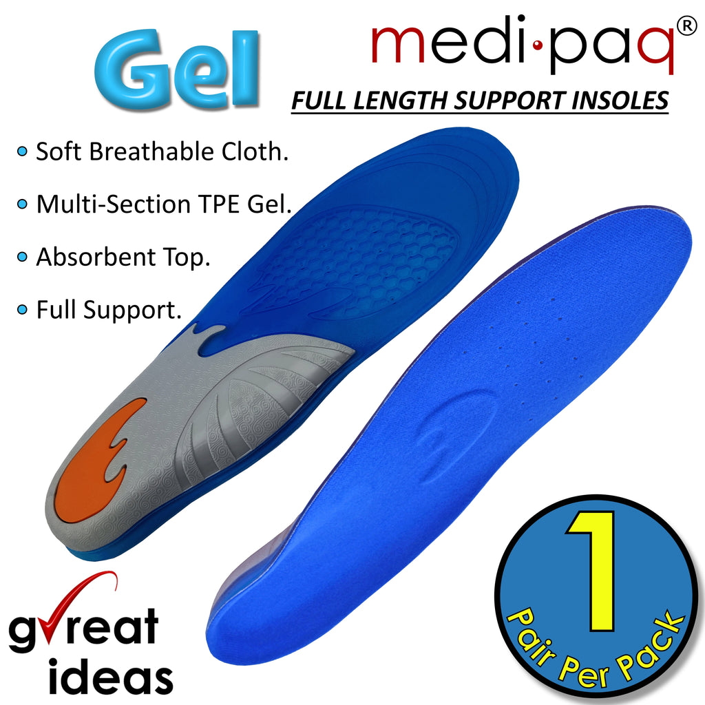 DELUXE Dual Density Gel Full-Length Insoles
