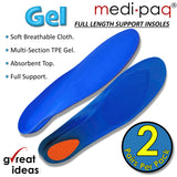 Soft Gel Full-Length Insoles (Two Pairs)