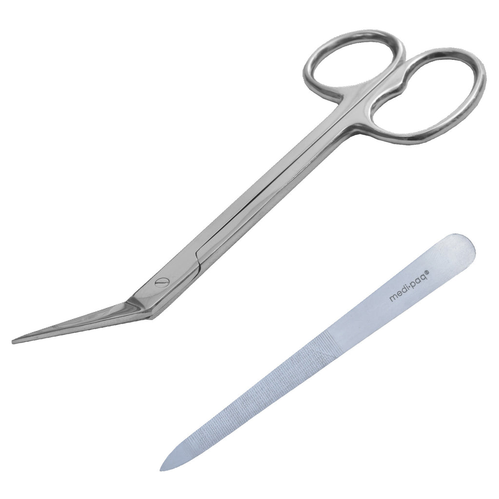 EXTRA LONG Toe Nail Chiropody Scissors PLUS Nail File