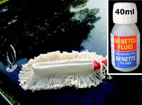 NENETTE Brush + NENETOL Fluid - Simply wipe this amazing Nenette Brush over your car, boat, caravan, furniture and all other hard surfaces for a superb clean and polish job.