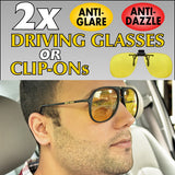 Night Driving Glasses or Clip-On's
