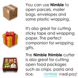 The AMAZING Nimble! Box Packaging Carton Parcel Tape Packet Opener Cutter Knife