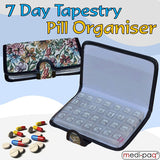 7 Day Tapestry Pill Organiser Box