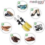 Medipaq - Premium Plastic Shoe Tree Stretchers - 2x Gents Stretcher - Put An End To Your Bunions, Blisters and Tight Fitting Shoes. With Cedar Balls, Shoehorn and Drawstring Bag. (For UK Size 7-11)