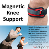 2x Knee Patella Compression Support Straps with 4x Powerful Magnets