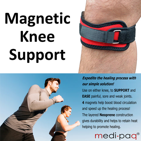 Knee Patella Compression Support Straps with 4x Powerful Magnets