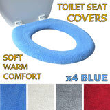 Medipaq Toilet Seat Cover - Super Warm Fleece - Retaining Ring - Universal Fit - Machine Washable