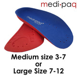 Arch Aids - ¾ Length Orthotic Insole PAIR