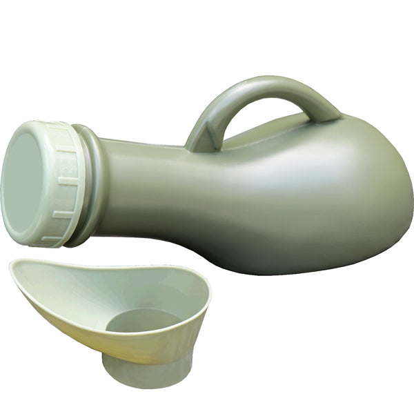 Unisex PORTABLE URINAL - Never be caught out again! The portable urinal is made of virtually unbreakable polyurethane with a spill proof cap and feminine adapter