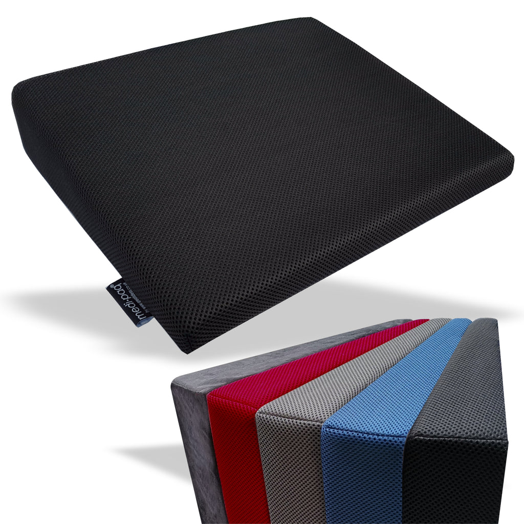 Memory Foam Wedge Cushion-Black 3D Mesh