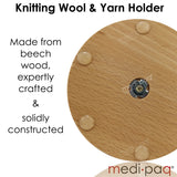 REVOLVING WOOL BALL HOLDER Keep Your Knitting KNOT FREE! With The Wooden Spinning Yarn Winder