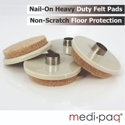"Felt Floor Scratch PROTECTION Pads - 4x Large 1½"" Pads"