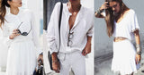 How to wear jewelry with a total white look