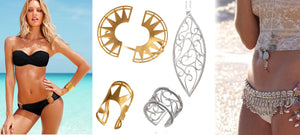 How to wear jewelry at the beach