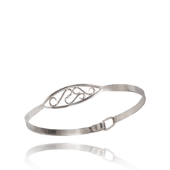 Bangle Bracelet made of Sterling Silver named Delicate Swirls - photo with jewelry only