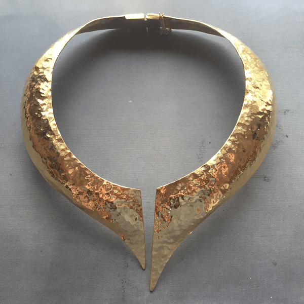 Collar Necklace made of Yellow Gold Plated Sterling Silver named Hera - customer photo
