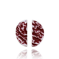Stud Earrings made of Sterling Silver, Red Enamel named Lava Flows Hot - photo with jewelry only