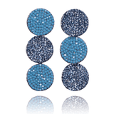 Dangle Earrings made of Swarovski Crystals, Rhodium Plated named Ocean Shades - photo with jewelry only