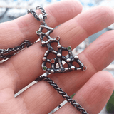 Pendant Necklace made of Oxidised Sterling Silver named Precious Amorphous - customer photo
