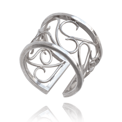 Fashion Ring made of Sterling Silver named Silver Twists - photo with jewelry only