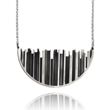 Pendant Necklace made of Sterling Silver named Skyline Silhouette - photo with jewelry only