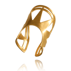 Fashion Ring made of Yellow Gold Plated Sterling Silver named Sol Ring - photo with jewelry only