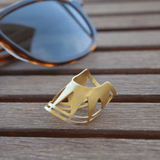 Fashion Ring made of Yellow Gold Plated Sterling Silver named Sol Ring - customer photo