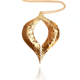 Pendant Necklace made of Yellow Gold Plated Sterling Silver named Venus Pendant - photo with jewelry only