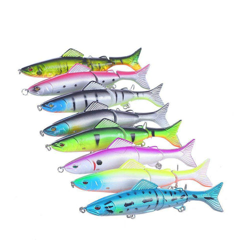 SwimBait™ - 8pcs  3 Jointed Sections Swimbait 3D Eyes Lifelike Fishing Lure