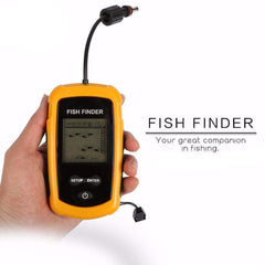 Portable Fish Finder Depth Sonar Sounder Alarm Transducer-Score Discount Fishing Supplies