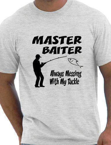 Fishing T-Shirt Master Baiter Funny Mens