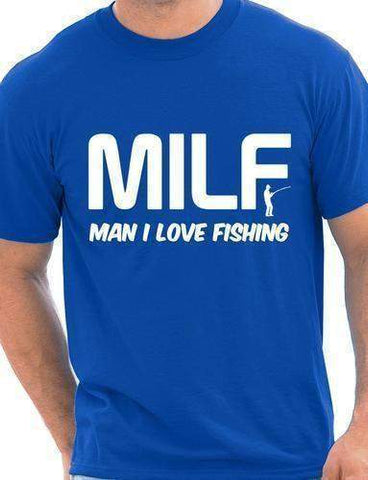 MILF Man I Love Fishing Funny Mens T Shirt